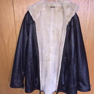 Leather coat XL